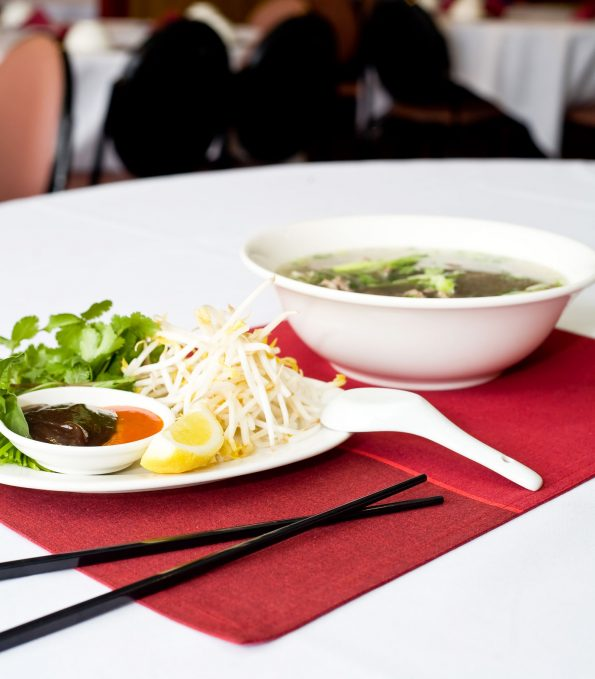 A photo of Rare Beef with Noodle food dish at the Vietnam Restaurant