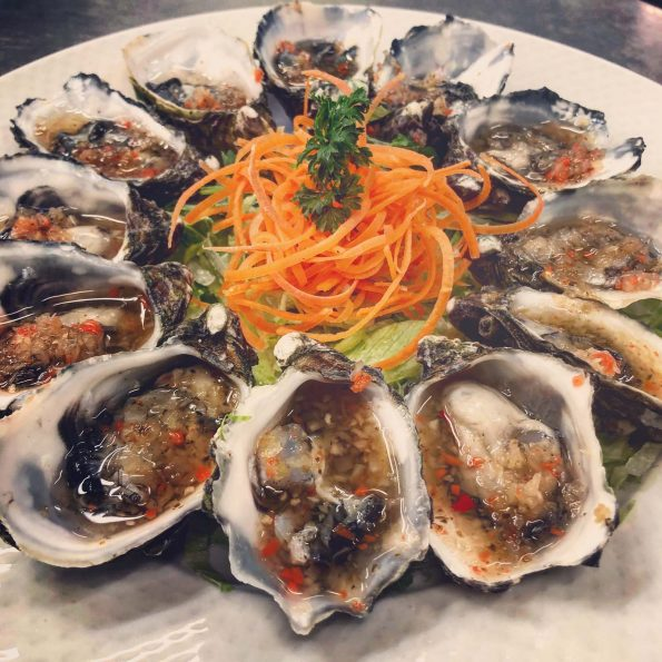 A photo of Vietnamese Style Natural Oysters food dish at the Vietnam Restaurant